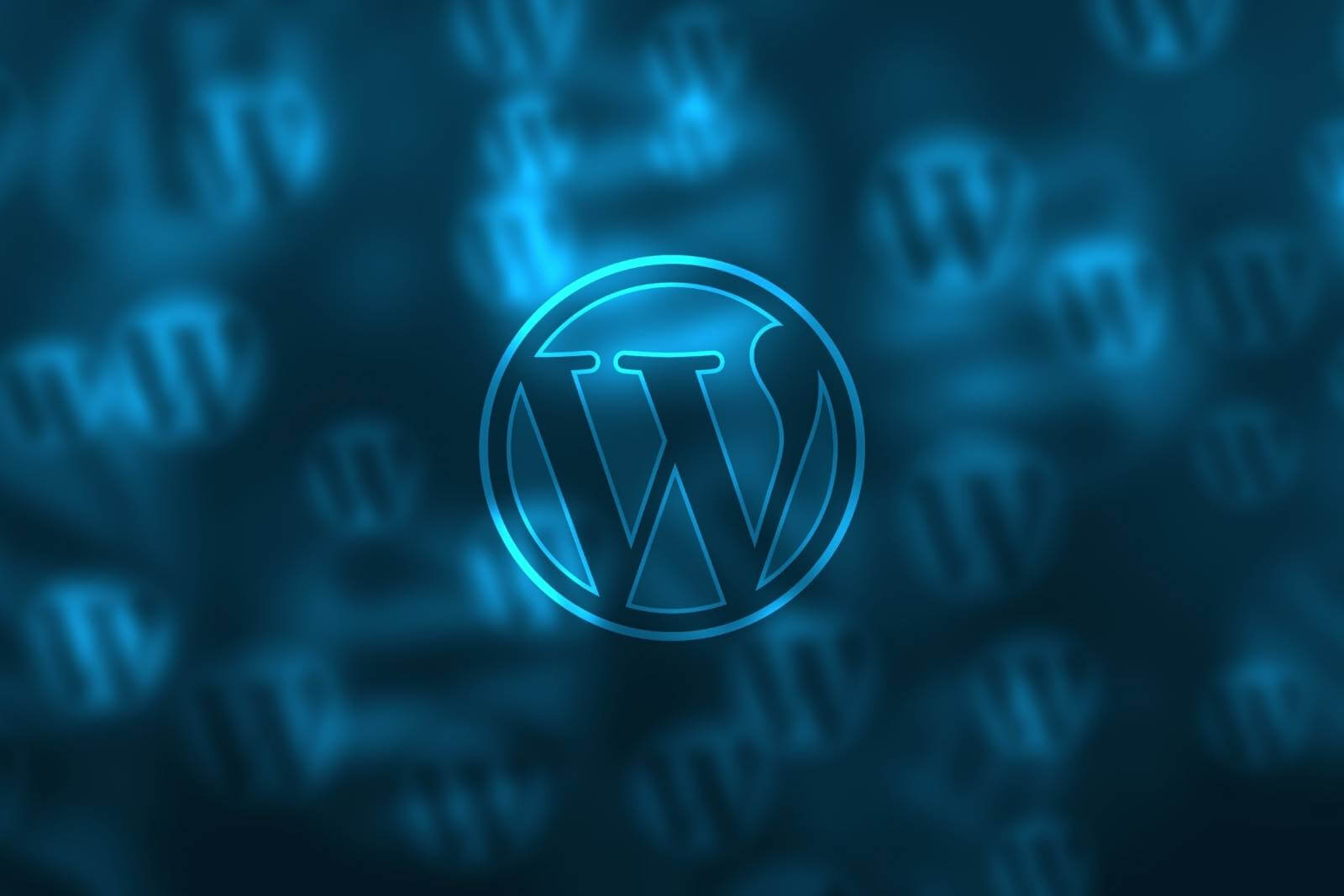 WordPress sininen kuva